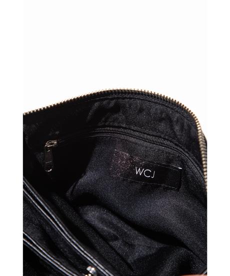 クロコ柄2WAY三連ポシェット【WCJ-CO-103BK】