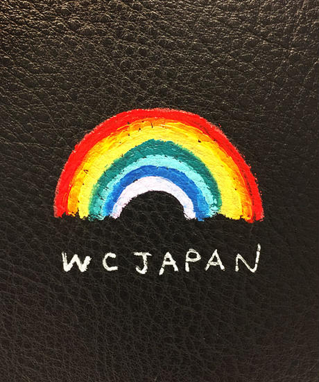 ペイントポーチ付きスクエアショルダーバッグ【WCJ-GE-003B】