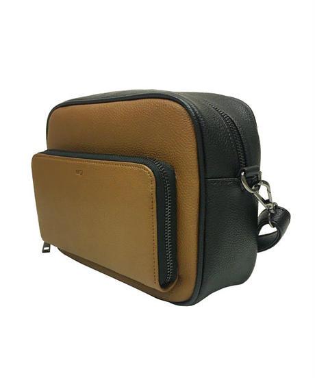 お財布機能付き配色ショルダーバッグ【WCJ-MT-041BN】