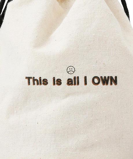 巾着付きミニ編みバッグ【WCJ-CO-098BN】