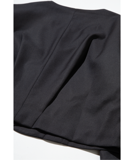 ノーカラーショートジャケット【WCJ-AB-021BK】※10月1日以降順次発送予定