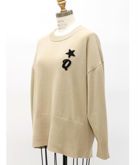 LOANA  /  ロアナ サガラ刺繍  コットンニット プルオーバー