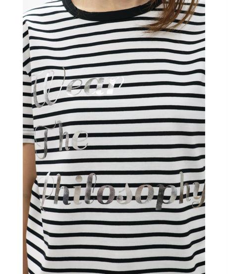 WEAR THE PHILOSOPHY / ウェアザフィロソフィー/ロゴプリントボーダーベーシックTシャツ