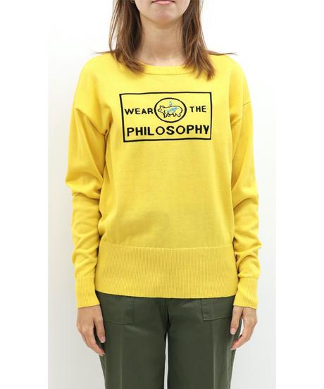 WEAR THE PHILOSOPHY / ウェアザフィロソフィー PIGロゴニットプルオーバー