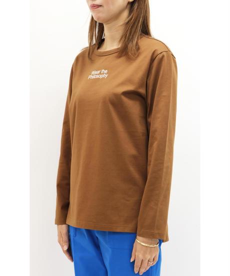 WEAR THE PHILOSOPHY / ウェアザフィロソフィー ロゴプリント ロングスリーブTシャツ