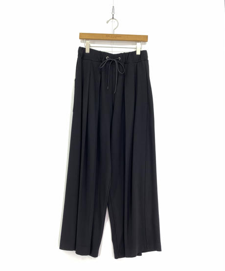 Robes & Confections  /  Rayon Nylon Double Jersey Pleated Easy Pants