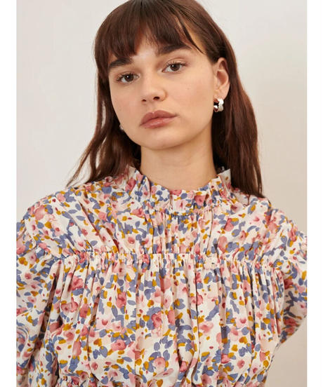 GHOSPELL / Fantasists Floral Ruched Top