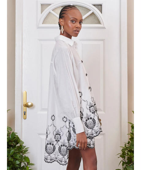 sister jane / DREAM Ernest Embroidered Scallop Shirt