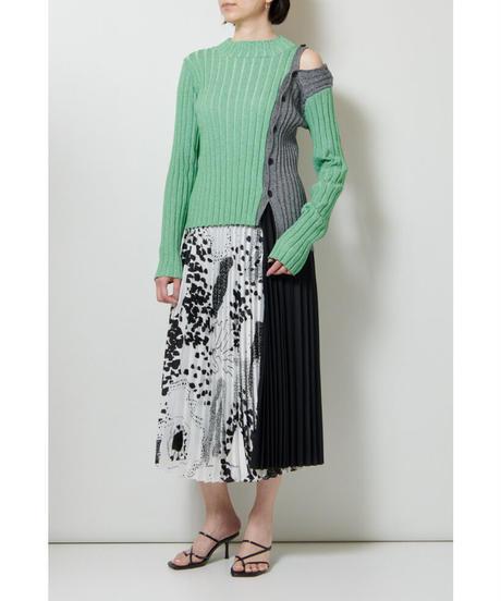 near.nippon / ラージパターン柄 プリーツスカート