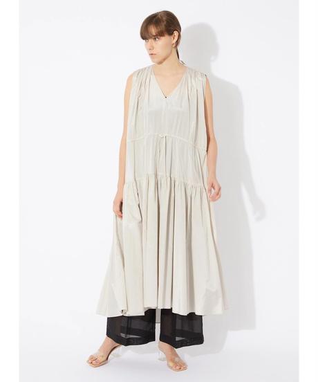 Rito / V-NECKED RUFFLE DRESS