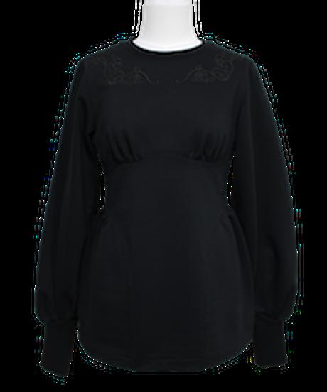FETICO /  Floral embroidered sweatshirt ( BLACK )