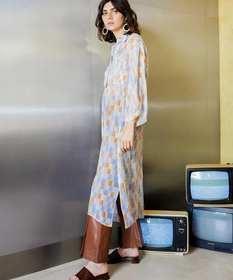 GHOSPELL / Scrambler Midi Shirt Dress