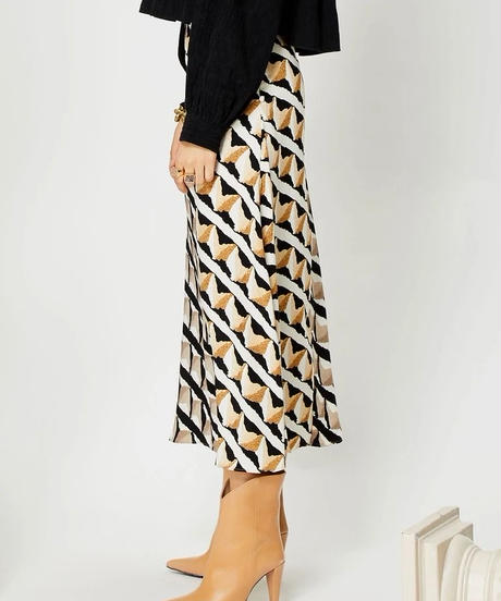 GHOSPELL / DOUBLE TAKE MIDI SKIRT