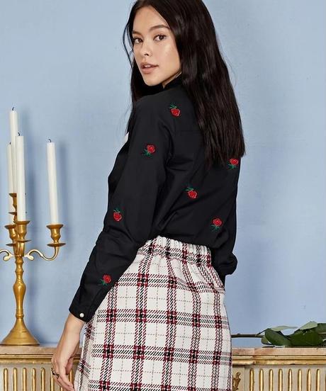 sister jane / Roseボウカラーシャツ