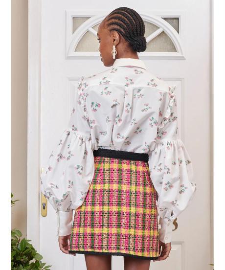 sister jane / DREAM Flower Mail Bishop Sleeve Blouse