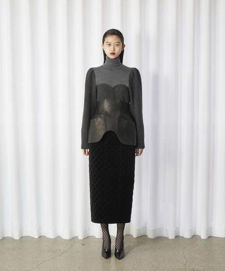 FETICO /  Circle cut  leather apron