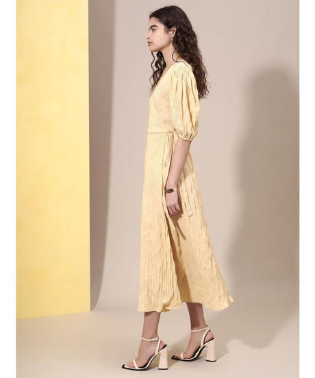 GHOSPELL / Highlights Wrap Midi Dress