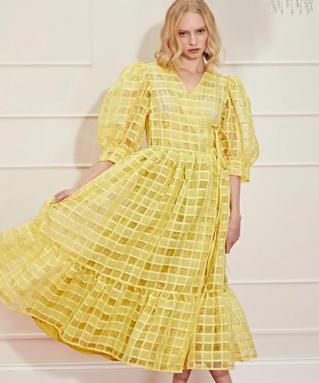 sister jane / DREAM Dolly Check Midi Wrap Dress