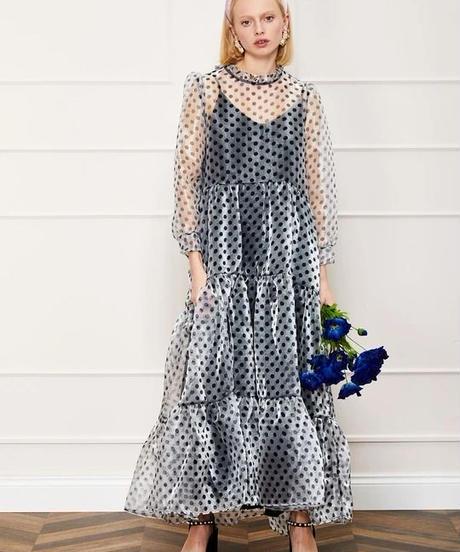 sister jane / DREAM Poppy Pin Tiered Maxi Dress