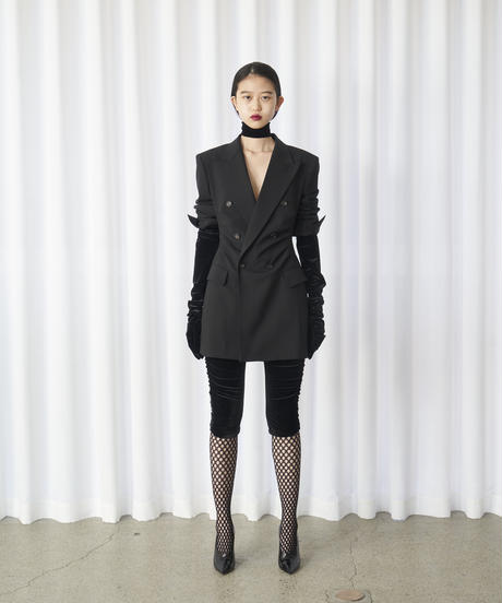 FETICO /  Gathered tailord jacket ( BLACK )