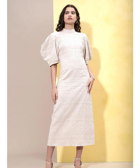 GHOSPELL / Natural Outline Midi Dress