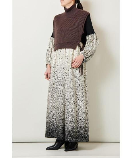 near.nippon /  コットンリブ グラデーション柄 ドレス