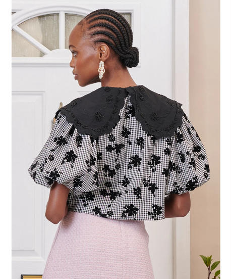 sister jane / DREAM Fondly Floral Puff Sleeve Top