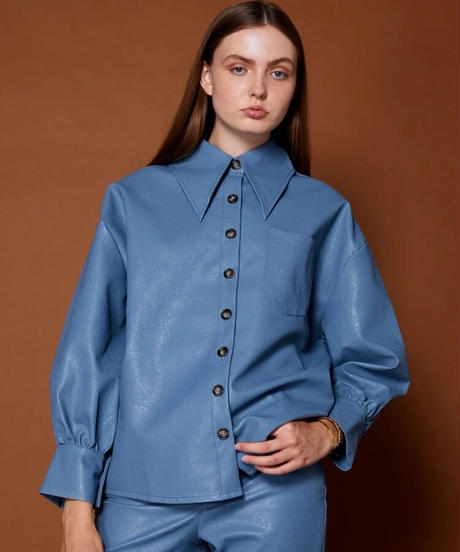 GHOSPELL / Finery Faux Leather Shirt