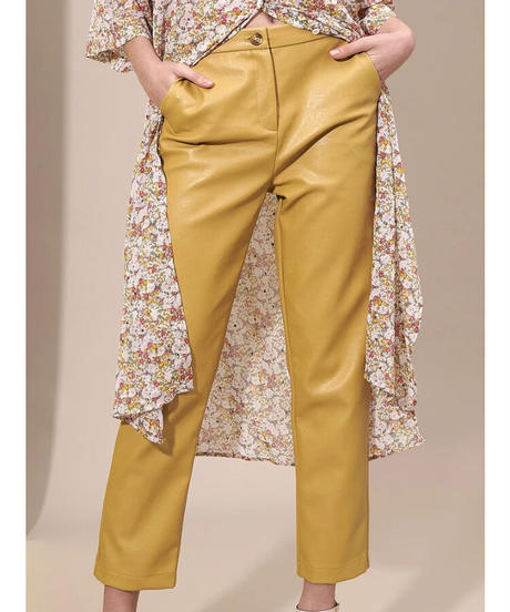 GHOSPELL / Blonde Faux Leather Trousers
