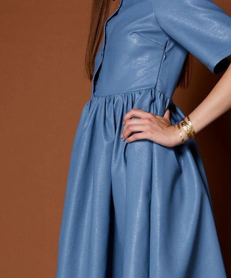 GHOSPELL / Finery Faux Leather Maxi Dress