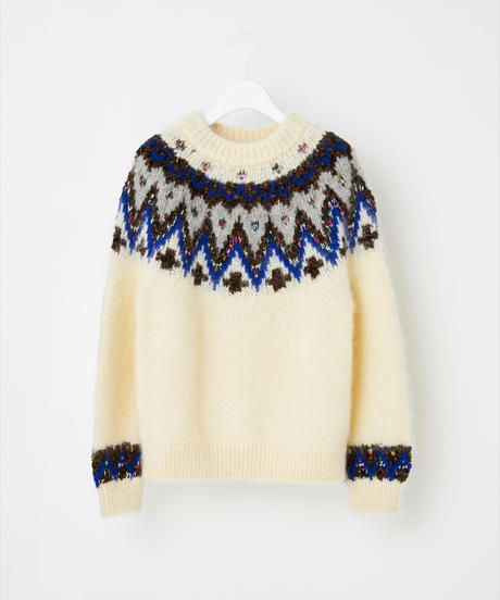 COOHEM / MOHAIR NORDIC SWEATER