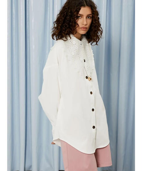 GHOSPELL / Character Lace Collar Shirt