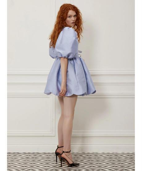 sister jane / DREAM Gramophone Jacquard Mini Wrap Dress