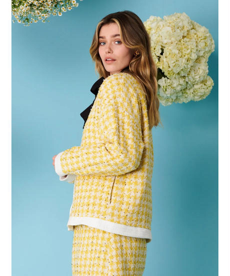 sister jane / Honey Bee Tweed Cardigan