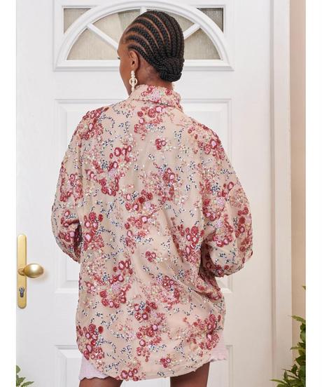 sister jane / DREAM Flourish Sequin Oversized Shirt