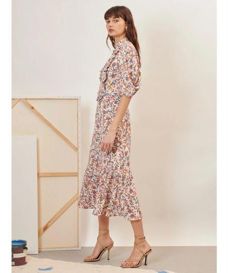 GHOSPELL / Fantasists Floral Midi Dress