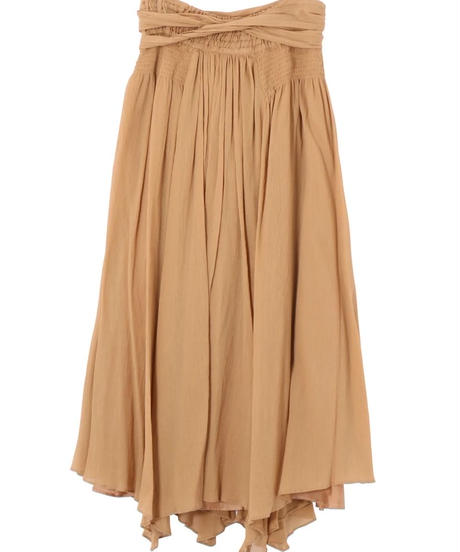 Rito / COTTON CREPE LONG SKIRT WITH BELT