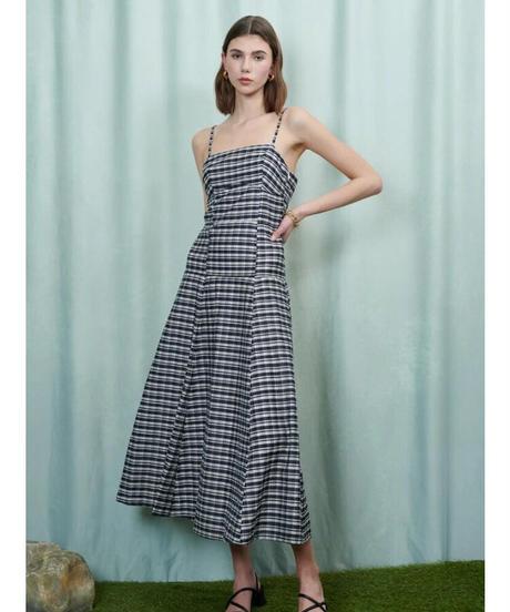GHOSPELL / Torrent Check Midi Dress
