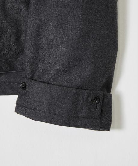 Wide sleeve open collar shirt (Charcoal)