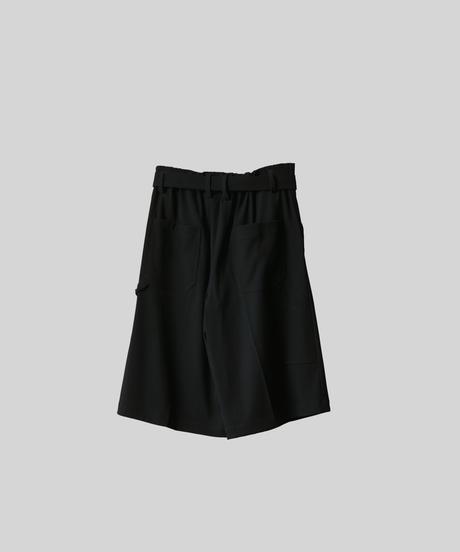 【3.27(sat)20:00‐ PRE‐ORDER】WIDE PAINTER HALF PANTS (BLACK)