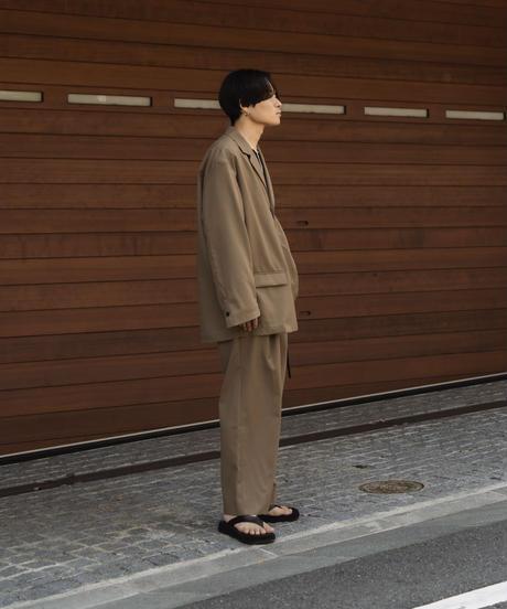 【10.9[sat]20:00‐RE‐STOCK】INVERTED PLEATS PANTS(BEIGE)