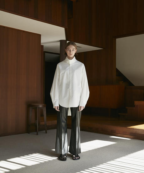 【10.9[sat]20:00‐RE‐STOCK】NEW SYNTHETIC LEATHER FLARED PANTS