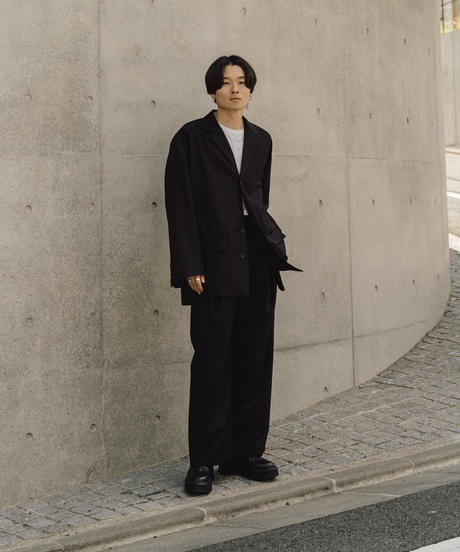 【10.9[sat]20:00‐RE‐STOCK】FLY FRONT TAILORED SHIRTS JACKET(BLACK)