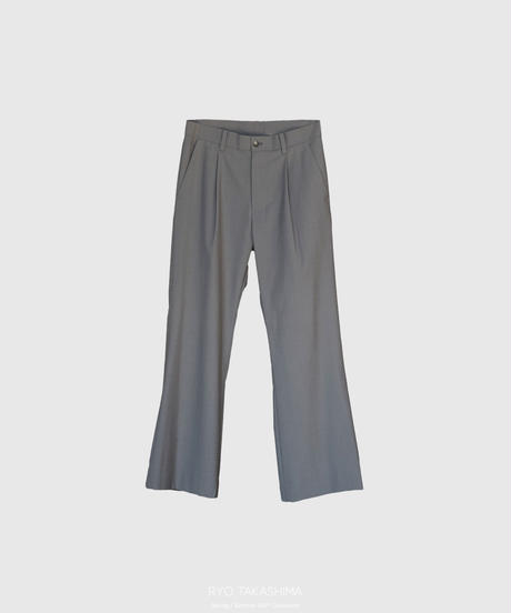 【2.24(wed)20:00‐PRE-ORDER】1TUCK FLARE PANTS(GRAY)