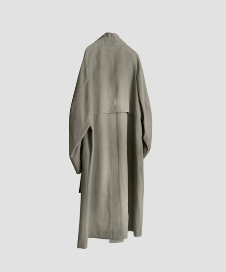 STAND COLLAR OVER COAT (GREIGE)