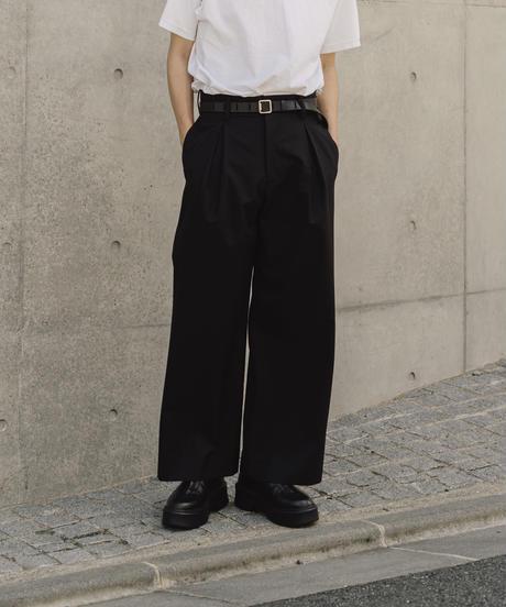 【10.9[sat]20:00‐RE‐STOCK】INVERTED PLEATS PANTS(BLACK)