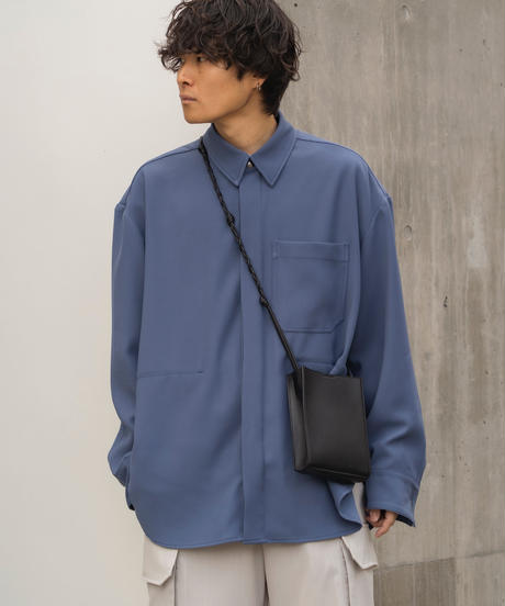 【3.27(sat)20:00‐ PRE‐ORDER】OVERSIZED WORK SHIRT JACKET  (BLUE GRAY)