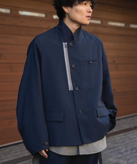 【2.24(wed)20:00‐PRE-ORDER】OVERSIZED STAND COLLAR  JACKET(NAVY)