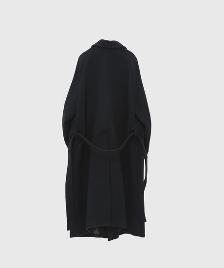【10.16[sat]20:00‐PRE‐ORDER】PILE MELTON DOUBLE BREASTED COAT (BLACK)