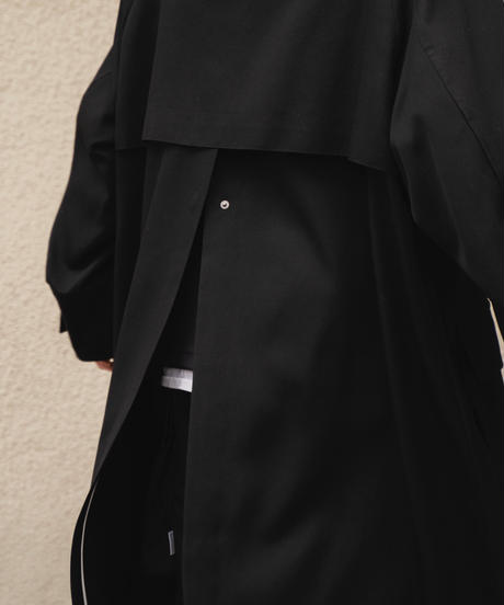 STAND COLLAR OVER COAT(BLACK)